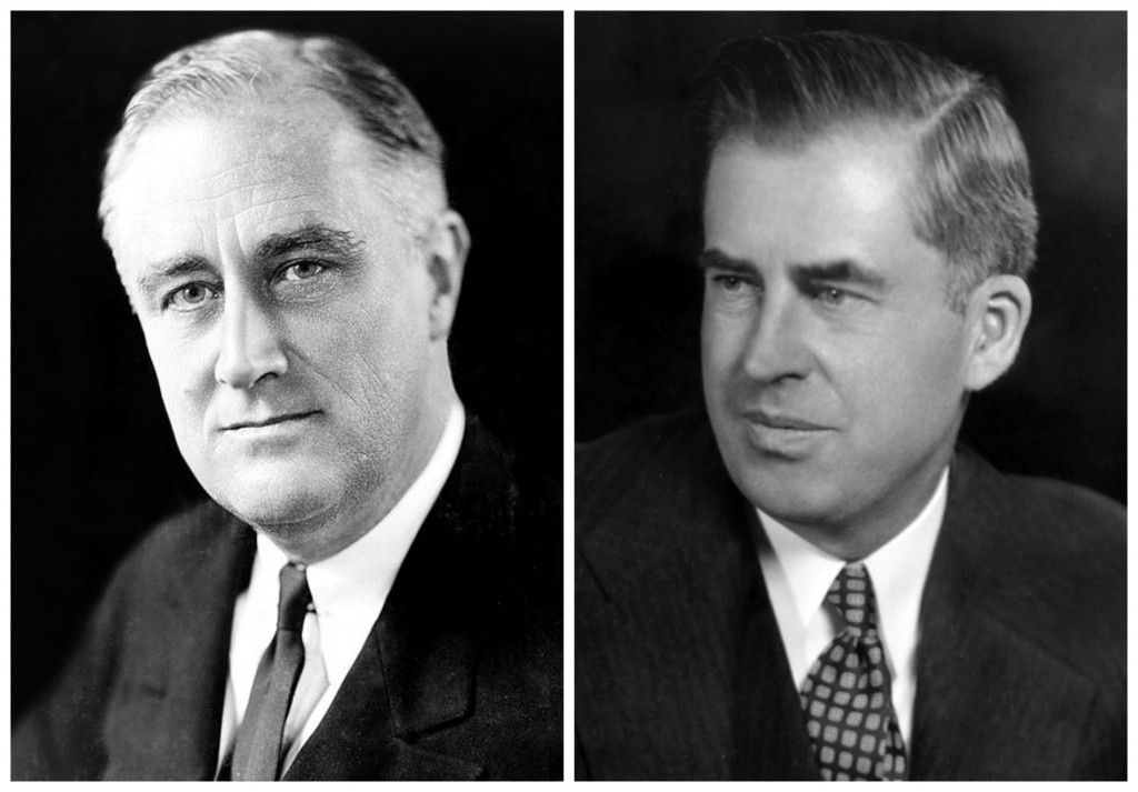 Franklin D. Roosevelt, 1933 (US Library of Congress) and Henry A. Wallace (US Department of Agriculture)