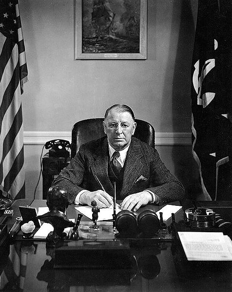 US Secretary of the Navy Frank Knox, Navy Department, Washington, DC, circa 1943 (US Navy photo 80-G-399009)