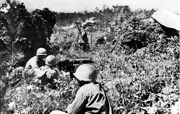 US 96th Division on the top of Yaeju-Dake Hill, Okinawa, Japan, 18 Jun 1945 (US Army photo)