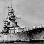 French battleship Richelieu at Dakar, 1941 (US Navy photo)