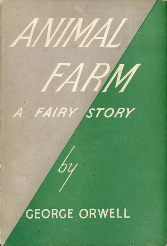 First edition of George Orwell's Animal Farm (public domain via Wikipedia)