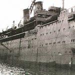 Ocean liner Arandora Star in use as a troop transport, 1940 (Royal Navy photograph)