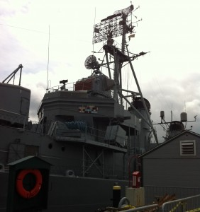 Bridge superstructure, USS Cassin Young, Charlestown Navy Yard, Boston, July 2014 (Photo: Sarah Sundin)