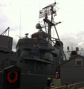 Bridge superstructure, USS Cassin Young, Charlestown Navy Yard, Boston, July 2014 (Photo: Sarah Sundin)