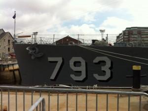 Bow of the USS Cassin Young, Charlestown Navy Yard, Boston, July 2014 (Photo: Sarah Sundin)