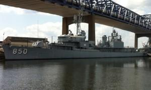 Gearing-class destroyer USS Joseph P. Kennedy, Jr., Battleship Cove, Fall River, MA, July 2014 (Photo: Sarah Sundin)