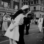The famous kiss at Times Square, New York City, 14 Aug 1945 (Photographer: Victor Jorgensen; US National Archives: 80-G-413998)