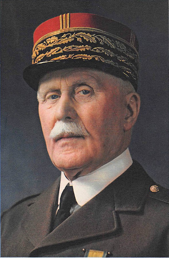 Marshal Philippe Pétain, Head of the French State, 1941 (public domain via Wikipedia)