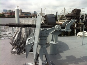 20-mm gun on USS Cassin Young, Charlestown Navy Yard, Boston, July 2014 (Photo: Sarah Sundin)
