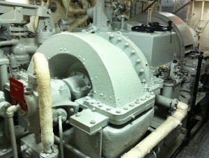 Turbine, USS Joseph P. Kennedy, Jr., Battleship Cove, Fall River, MA, July 2014 (Photo: Sarah Sundin)