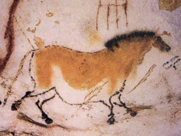 Image of a horse from Lascaux Cave (public domain via French Ministry of Culture)