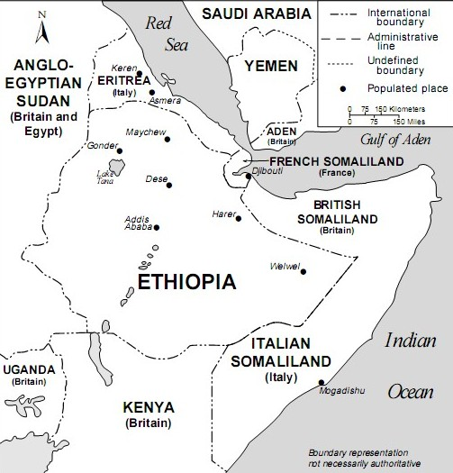 Map of East Africa, mid-1930s (Library of Congress)