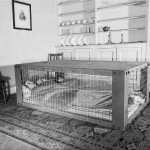 Morrison shelter in use, WWII (Imperial War Museum: D 2055)
