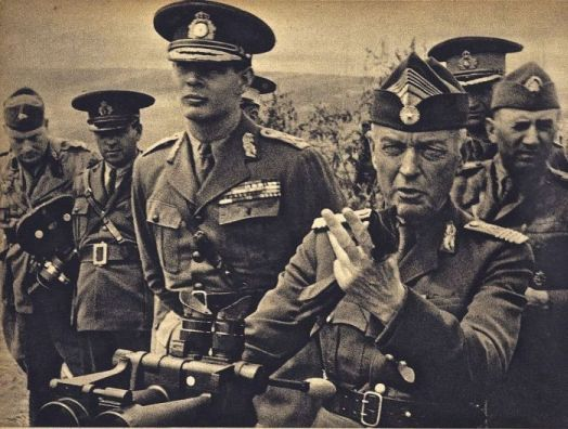 King Michael I of Romania and Gen. Ion Antonescu, August 1941 (public domain via Wikipedia)