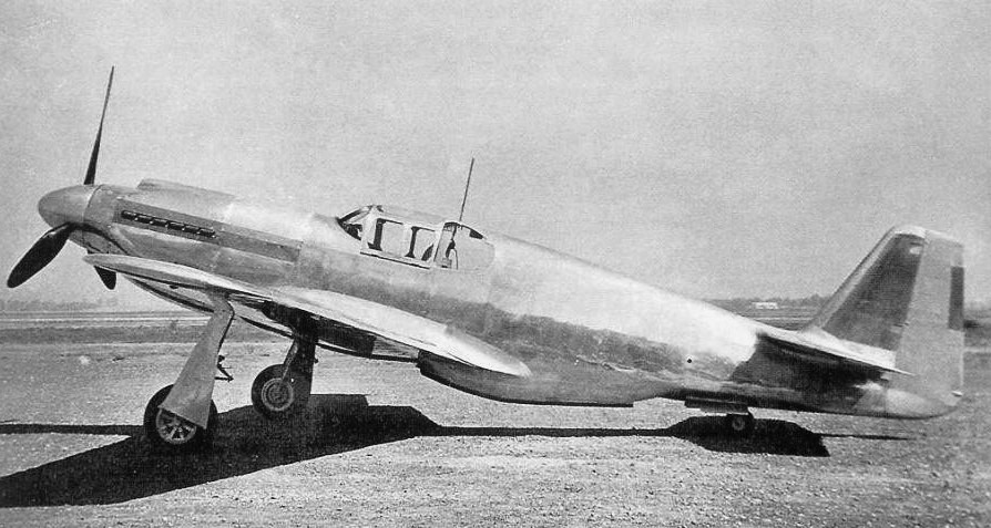 North American NA-73X, the prototype for the P-51 Mustang, 1940 (US government photo via North American Aviation)