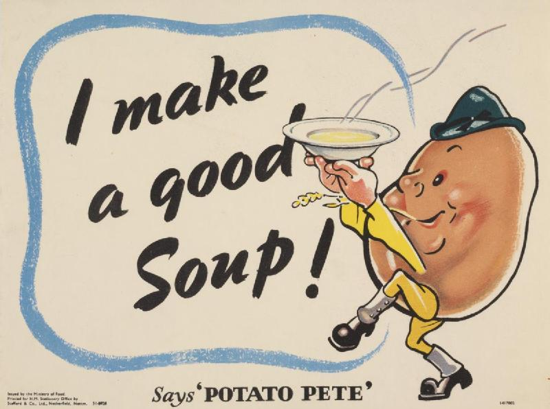 """Potato Pete"" poster, British, WWII (Imperial War Museum)"