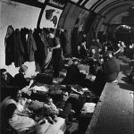 Air raid shelter in a London Underground station during the Blitz, 1940-41 (US National Archives: 195768)