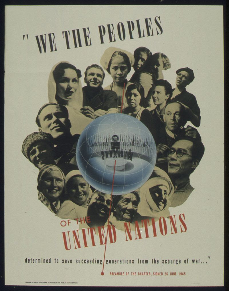 Poster commemorating the United Nations Charter