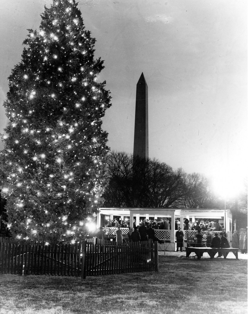 Lighting of the National Community Christmas Tree, Washington, DC, December 24, 1940 (Franklin D. Roosevelt Library)