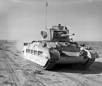 Matilda tank of British 7th Royal Tank Regiment in North Africa, 19 Dec 1940 (Imperial War Museum: 4700-32 E 1416)