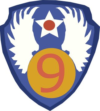 Shoulder patch of US Ninth Air Force, WWII