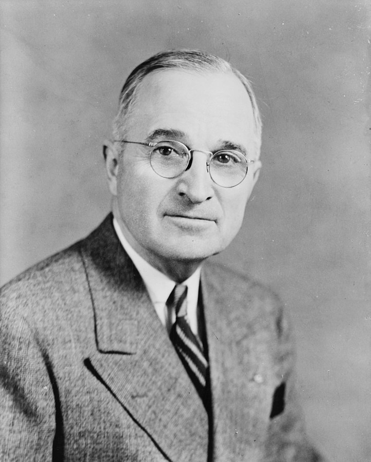 Pres. Harry Truman, 27 June 1945 (Library of Congress)