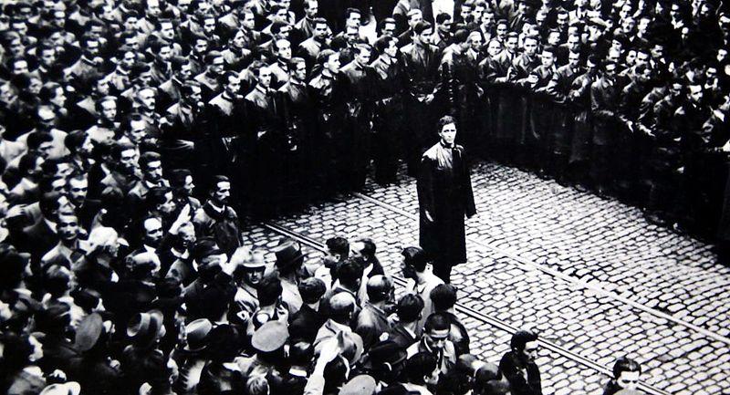 Leader Corneliu Zelea Codreanu and the Iron Guard in Bucharest, Romania, 1937 (public domain via Wikipedia)
