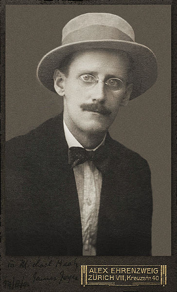 James Joyce, 1915 (public domain via Wikipedia)