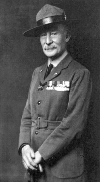Lord Robert Baden-Powell, founder of the scout movement, 1919 (Library of Congress)