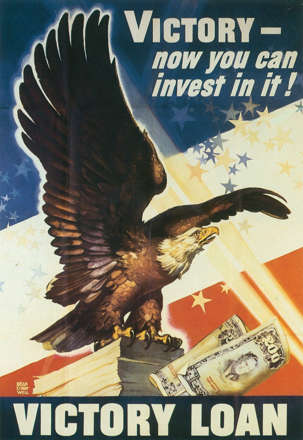 Poster for US Victory Loan Drive, 1945