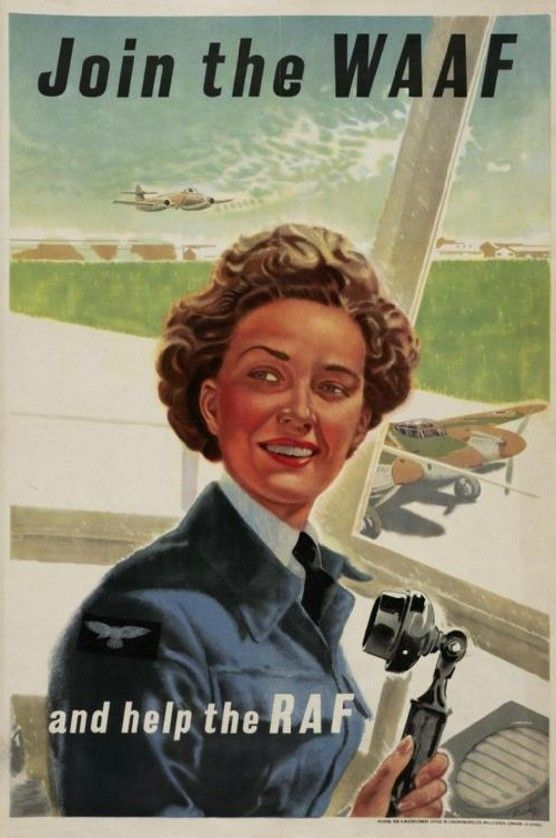 British poster for the WAAF, WWII (Imperial War Museum)