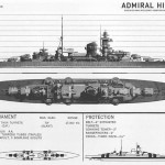 Wartime recognition drawing of German cruiser Admiral Hipper, produced by US Office of Naval Intelligence in 1942. (US Navy)