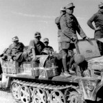 German Afrikakorps anti-tank unit pulling a 37 mm gun, North Africa, March 1941 (German Federal Archive: Bild 101I-782-0016-34A)