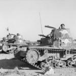 Captured Italian M13/40 and M11/39 tanks pressed into Australian service, North Africa, 23 Jan 1941 (Australian War Memorial: 005042)
