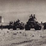 Italian tanks near Fort Mechili, Libya, 1941 (public domain via Wikipedia)