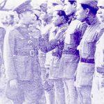 Thai Prime Minister Plaek Phibunsongkhram inspecting troops during the Franco-Thai War, 1941 (public domain via Wikipedia)