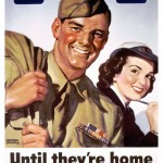 Poster for the USO, WWII