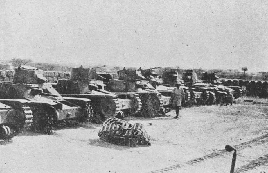 Italian M11/39 tanks captured by the British after the battle of Agordat in Eritrea, February 1941 (United Kingdom government photo)