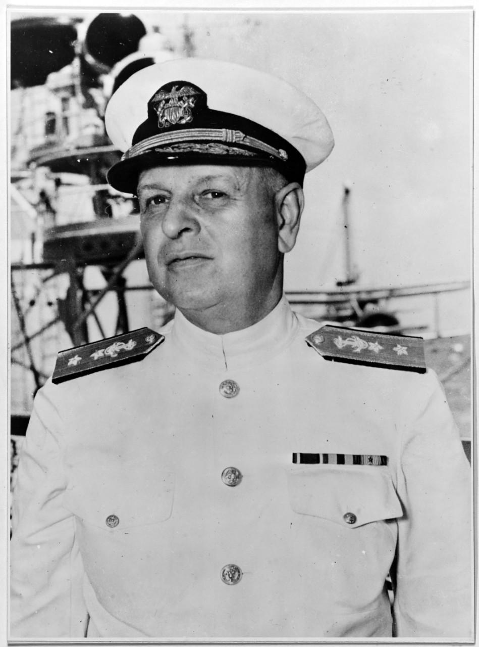 Adm. Husband Kimmel aboard USS San Francisco, 1939 (US Naval History and Heritage Command: NH 50266)