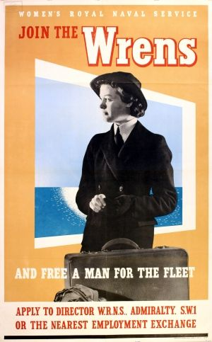 Women's Royal Naval Service poster, WWII