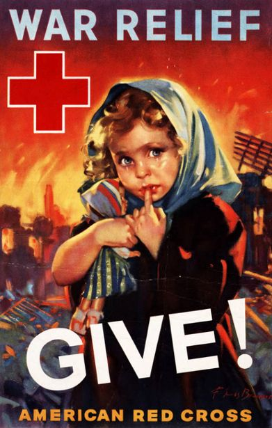 Poster for American Red Cross War Relief, WWII