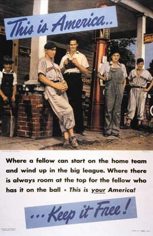 Baseball-themed recruiting poster, 1942