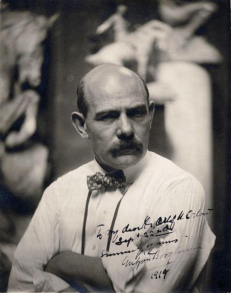 Gutzon Borglum, 1919 (Archives of American Art, public domain via Wikipedia)