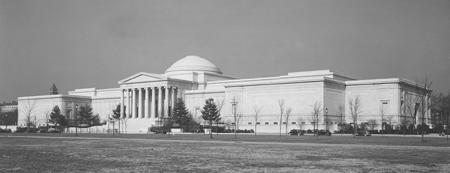 The National Gallery of Art, Washington, DC, soon after its construction in 1941 (US government photo)