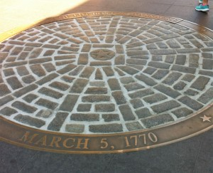 Site of the Boston Massacre, Boston, MA (Photo: Sarah Sundin, July 2014)