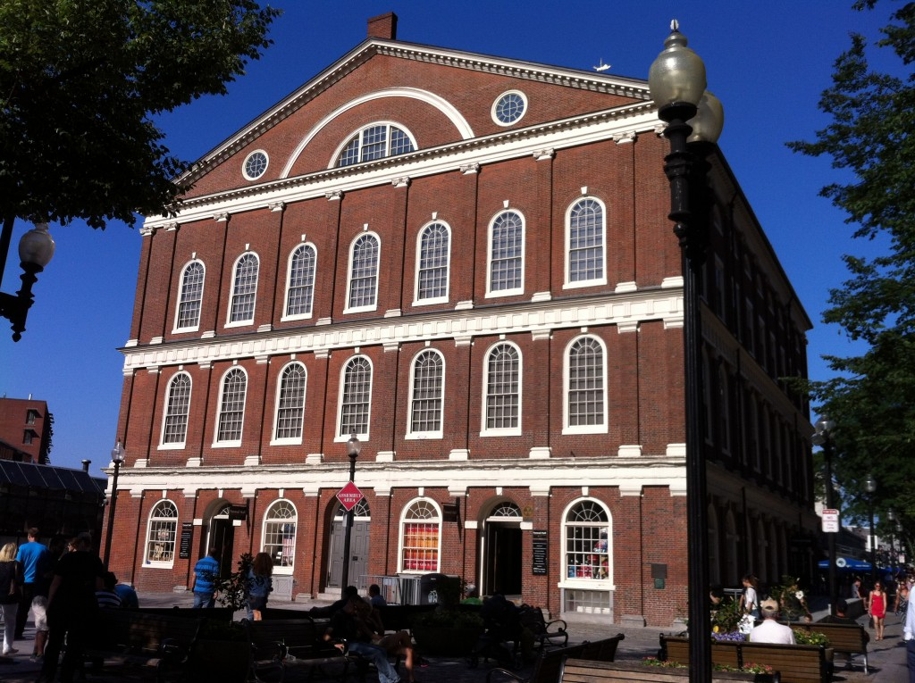 Faneuil Hall, Boston, MA (Photo: Sarah Sundin, July 2014)