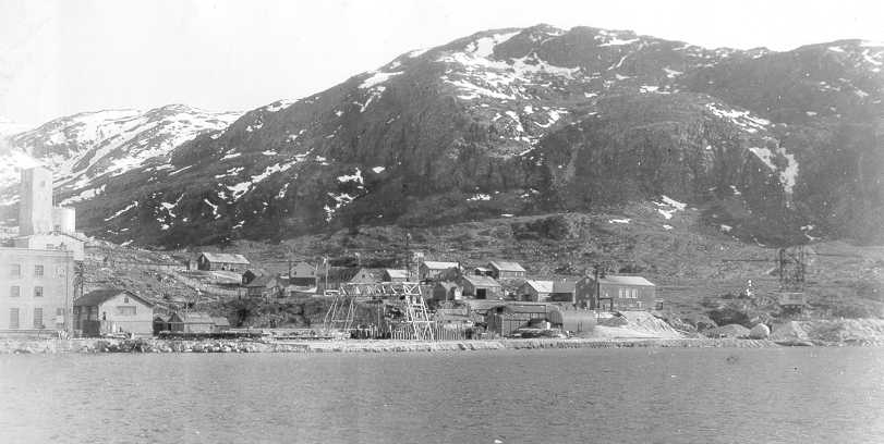 Cryolite (essential for production of aluminum) mine, Ivigtut, Greenland, summer 1940 (US Coast Guard photo)
