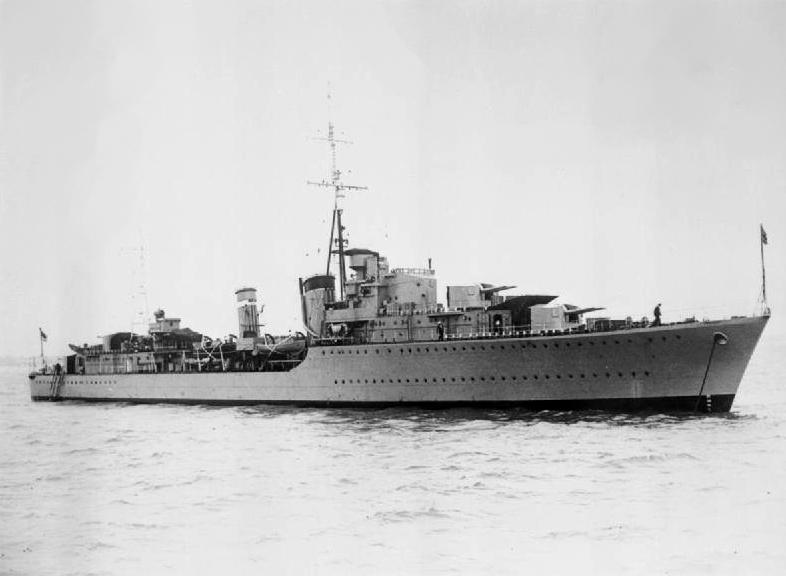 Destroyer HMS Somali, 29 July 1939 (Imperial War Museum: FL 19179)