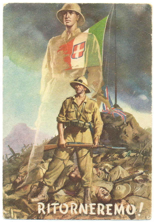 Poster calling Italians to avenge the defeat in East Africa, 1941 (public domain)