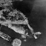 Luftwaffe bombing Greek battleship Kilkis at Athens, 23 April 1941. (public domain)
